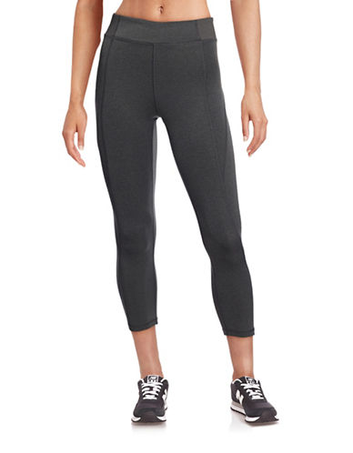 Ivy Park Y - High-Rise Three-Quarter Leggings-GREY-X-Large