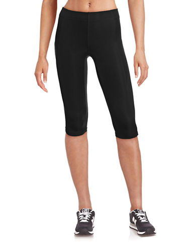 Ivy Park V - Mid-Rise Capri Leggings-BLACK-X-Small