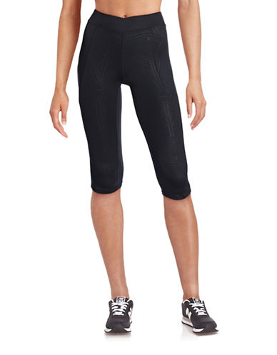 Ivy Park Reflective Printed Capri Leggings-BLACK-Medium 88392045_BLACK_Medium