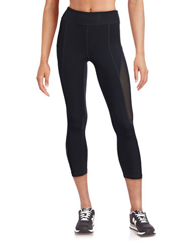 Ivy Park Mesh Three-Quarter Leggings-BLACK-Medium 88384496_BLACK_Medium