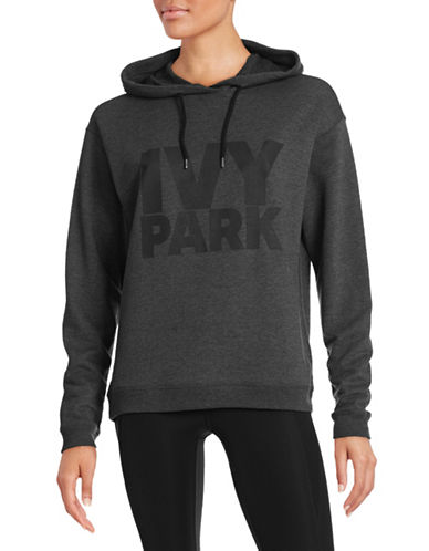 Ivy Park Logo Oversized Hoodie-GREY-Medium