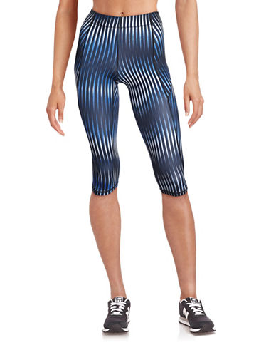 Ivy Park V - Mid-Rise Printed Capri Leggings-MULTI-X-Small