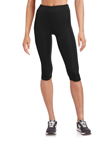 Ivy Park Y - High-Rise Capri Leggings-BLACK-X-Small