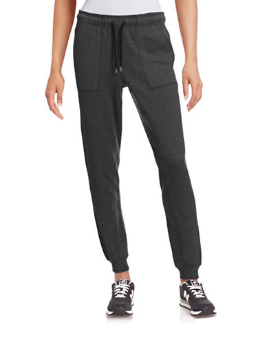 Ivy Park Slim Leg Logo Jogger Pants-GREY-Medium 88384330_GREY_Medium