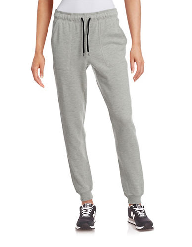 Ivy Park Slim Leg Logo Jogger Pants-GREY-X-Small 88384327_GREY_X-Small