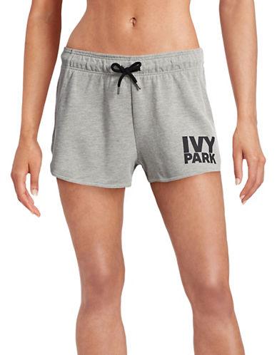 Ivy Park Logo Running Shorts-GREY-Large 88392054_GREY_Large