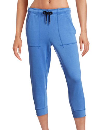 Ivy Park Slim Leg Capri Joggers-BLUE-Medium