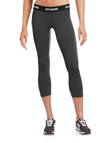 Ivy Park Logo Low-Rise Three-Quarter Leggings-GREY-Large 88384475_GREY_Large
