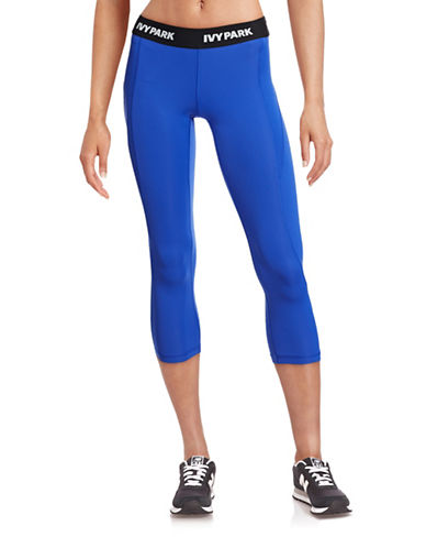 Ivy Park I - Low-Rise Logo Three-Quarter Leggings-BLUE-X-Large 88384469_BLUE_X-Large