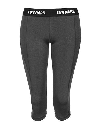 Ivy Park I Low-Rise Capri Leggings-DARK GREY-Large 88785548_DARK GREY_Large