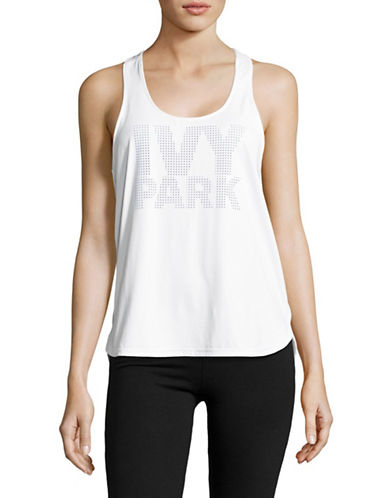 Ivy Park Mesh Panel Racer Tank-WHITE-XX-Small 89005499_WHITE_XX-Small
