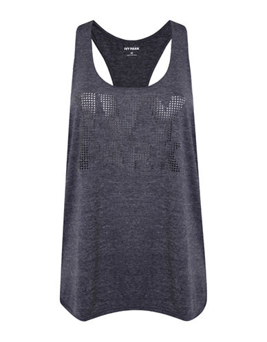 Ivy Park Laser Logo Racer Back Tank-GREY MARL-X-Small 88534470_GREY MARL_X-Small