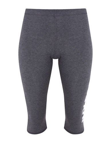 Ivy Park Logo Capri Leggings-GREY MARL-X-Small