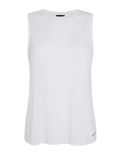 Ivy Park Mesh Back Tank-WHITE-X-Large