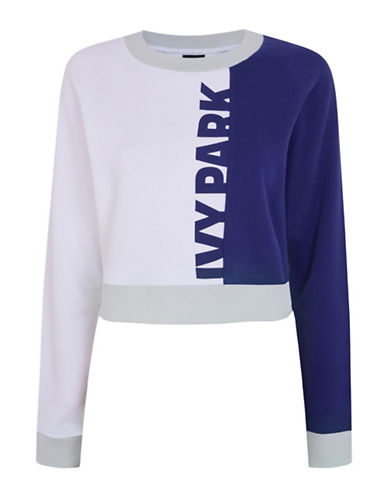 Ivy Park Colourblock Peached Sweatshirt-NAVY-Medium 88534431_NAVY_Medium
