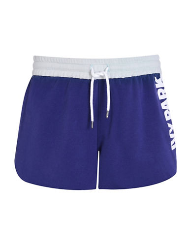 Ivy Park Colourblock Loopback Jersey Shorts-NAVY-X-Large 88534423_NAVY_X-Large