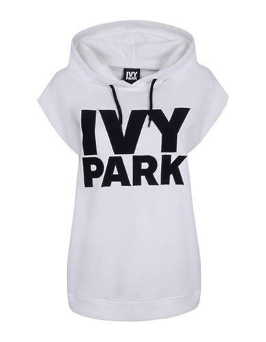 Ivy Park Sleeveless Peached Logo Hoodie-WHITE-X-Small 88534386_WHITE_X-Small