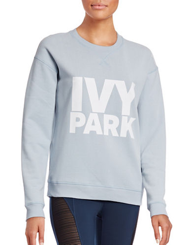 Ivy Park Logo Peached Sweatshirt-SOFT BLUE-X-Large 88715096_SOFT BLUE_X-Large