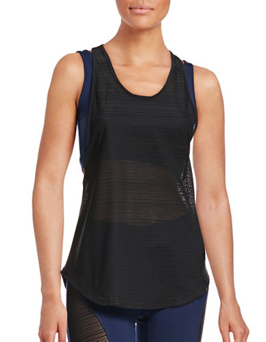 Ivy Park Double Layer Mesh Tank Top-NAVY-X-Small 88755065_NAVY_X-Small
