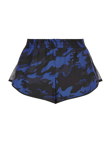 Ivy Park Camo Mesh Panel Runner Shorts-NAVY-X-Small 88755033_NAVY_X-Small