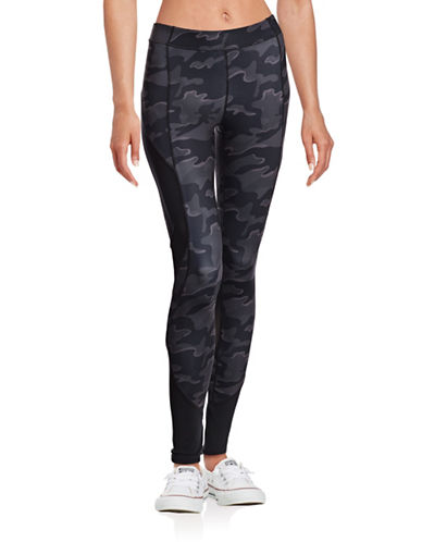 Ivy Park Camo Mid-Rise Ankle Leggings-BLACK-Medium 88759814_BLACK_Medium