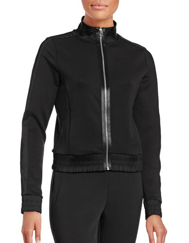 Ivy Park Satin Side-Stripe Zip-Thru Jacket-BLACK-Small 88715144_BLACK_Small