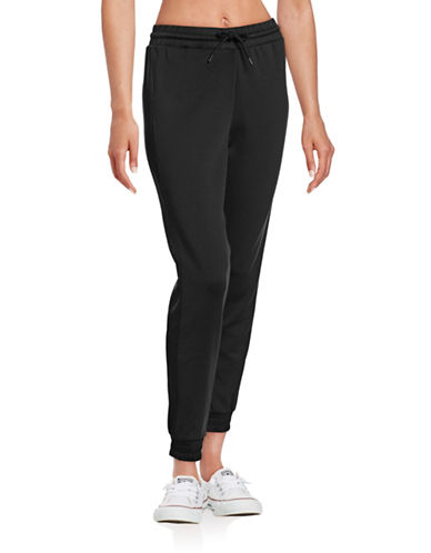 Ivy Park Satin Side-Stripe Joggers-BLACK-X-Large 88715054_BLACK_X-Large