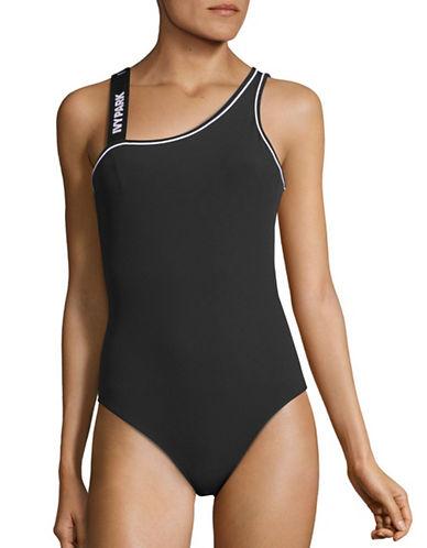 Ivy Park Asymmetrical Logo Bodysuit-BLACK-X-Small 88715040_BLACK_X-Small