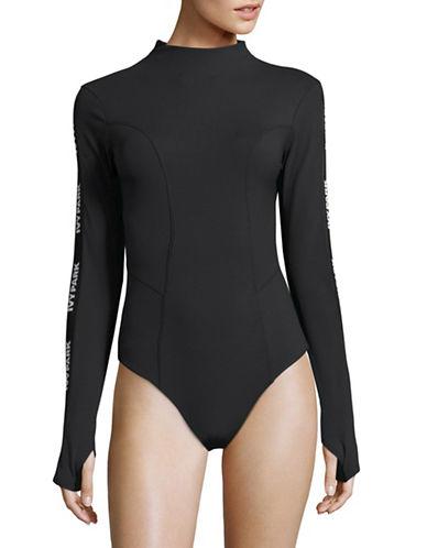 Ivy Park Elastic Logo Rib Bodysuit-BLACK-Small 88715036_BLACK_Small