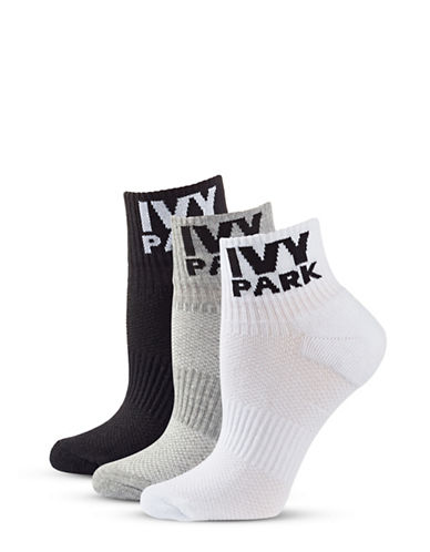Ivy Park Logo Ribbed Ankle Socks-MULTICOLORED-One Size
