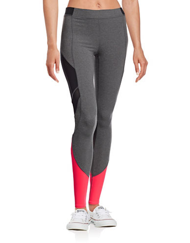 Ivy Park Colourblock Leggings-GREY/HOT PINK-X-Large
