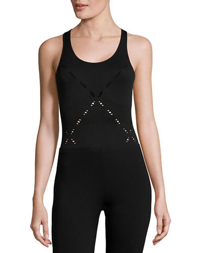 Ivy Park Seamless Criss Cross Bodysuit-BLACK-Small/Medium