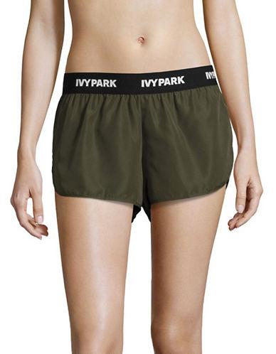 Ivy Park Logo Woven Running Shorts-KHAKI-Large
