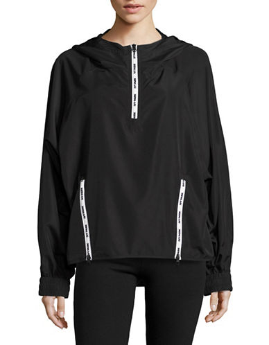 Ivy Park Logo Zip Pullover Jacket-BLACK-X-Small 89122843_BLACK_X-Small