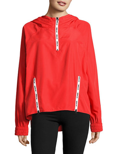 Ivy Park Logo Zip Pullover Jacket-TOMATO RED-Large 88896768_TOMATO RED_Large