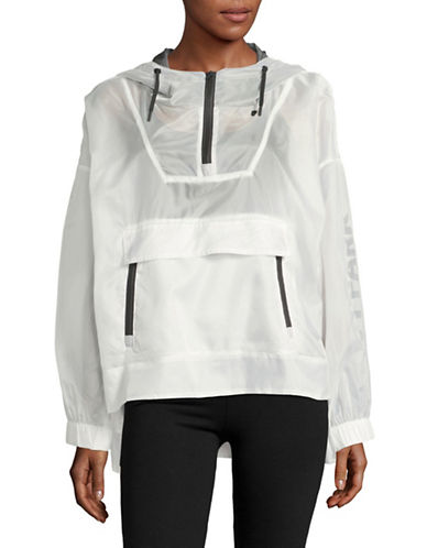 Ivy Park Translucent Pullover Jacket-WHITE-Large