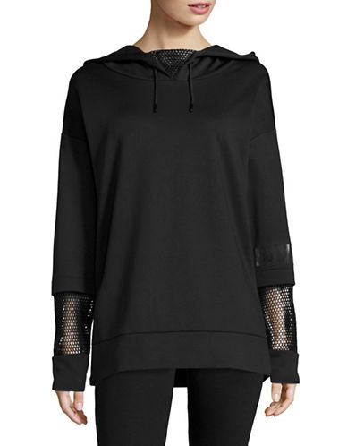 Ivy Park Open Mesh Back Hoodie-BLACK-Medium 88926013_BLACK_Medium