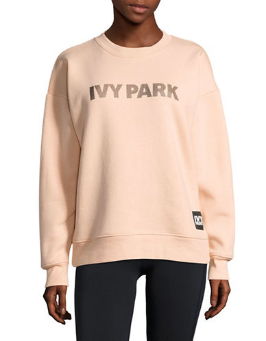 Ivy Park Silicone Logo Sweater-BLUSH-X-Small 89048456_BLUSH_X-Small