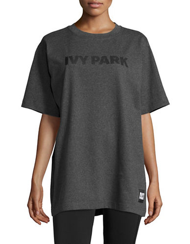 Ivy Park Silicone Logo Tee-CHARCOAL MARL-X-Large 89048470_CHARCOAL MARL_X-Large