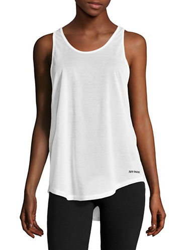Ivy Park Sheer Burnout Tank-WHITE-X-Large 89048507_WHITE_X-Large