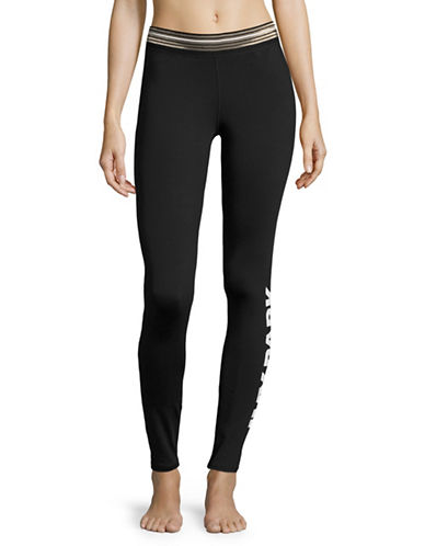 Ivy Park Logo Stripe Leggings-BLACK-X-Small 89048409_BLACK_X-Small