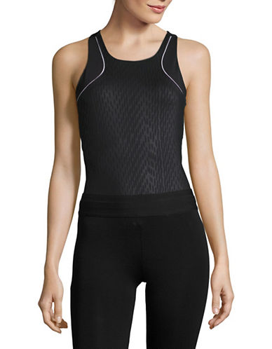 Ivy Park Fishnet Mesh Panel Bodysuit-BLACK-Large