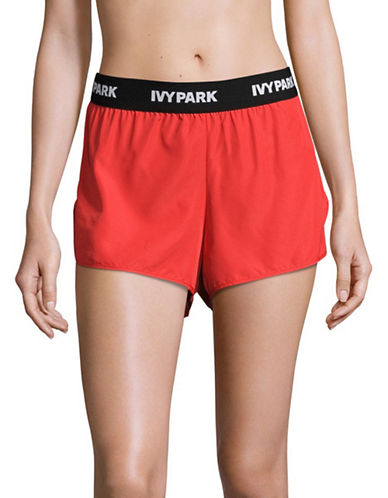 Ivy Park Logo Waistband Shorts-TOMATO RED-X-Small