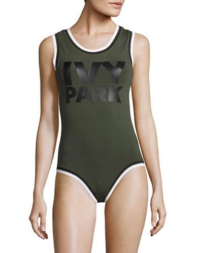 Ivy Park Logo Bodysuit-KHAKI-X-Small 88926009_KHAKI_X-Small