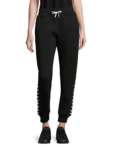 Ivy Park Laced Joggers-BLACK-Medium 89048385_BLACK_Medium