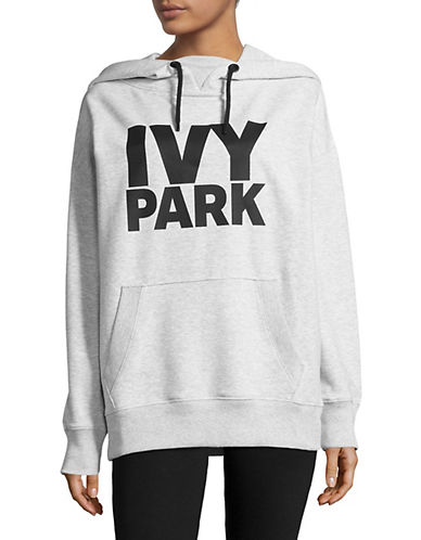 Ivy Park Logo Hoodie-LIGHT GREY MARL-X-Large 88896764_LIGHT GREY MARL_X-Large