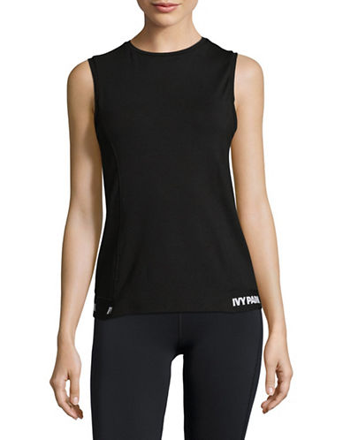 Ivy Park Open-Back Tank Top-BLACK-Medium