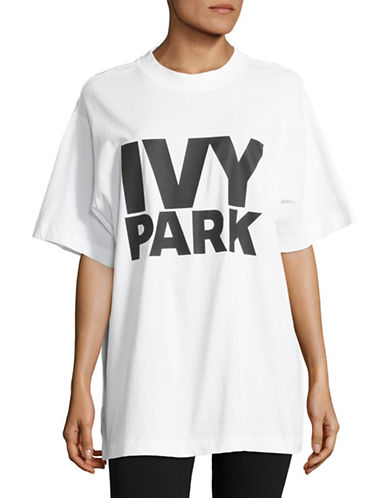 Ivy Park Oversized Logo T-Shirt-WHITE-Medium 88896794_WHITE_Medium