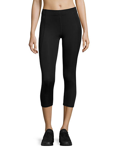 Ivy Park V Mid-Rise Three-Quarter Leggings-BLACK-Medium 89122850_BLACK_Medium