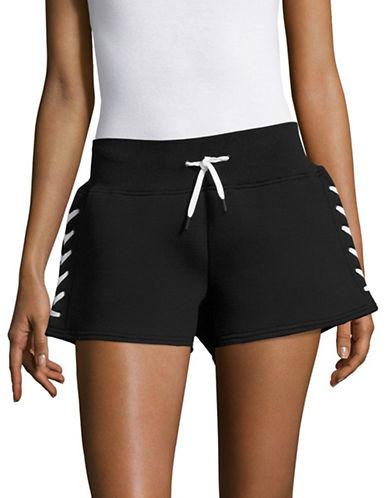 Ivy Park Laced Shorts-BLACK-X-Large 89048444_BLACK_X-Large